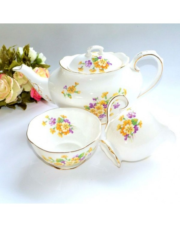 (OUT OF STOCK) ROYAL ALBERT PRIMROSE TEAPOT SET